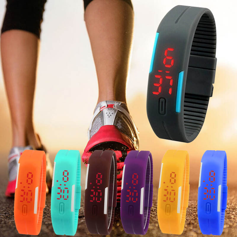 Men's Watch Men Wrist Ultra Thin Silicone Digital LED Wrist Men's Watches Women Clock Reloj Ladies Watch Relogio Feminino Reloje