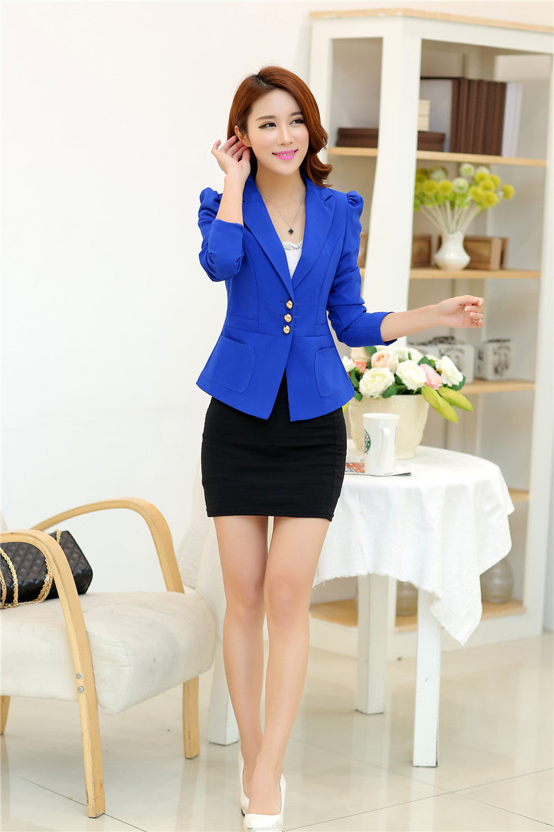 RealShe 2016 Women Jacket Long Sleeve Feminina Suit Blazer Women's Casual Blazer Mujer Plus Size Blazer Feminino Jackets