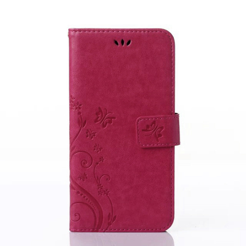A3 A5 J1 J3 J5 J7 2015 2016 Core 2 Grand Prime Butterfly Leather Flip Cover Wallet Case for Samsung Galaxy S4 S5 mini S6 S7 edge