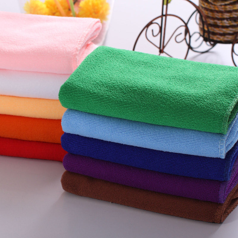 Hot Sale 10pcs/Lot Square Soft Microfiber Towel Car Cleaning Wash Clean Cloth Microfiber Care Hand Towels House Cleaning