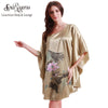 SpaRogers New Fashion Summer Free Size Bath Robe Lounge Ladies Nightwear Lotus Print Women Pyjamas For Sleep And Leisure 10169