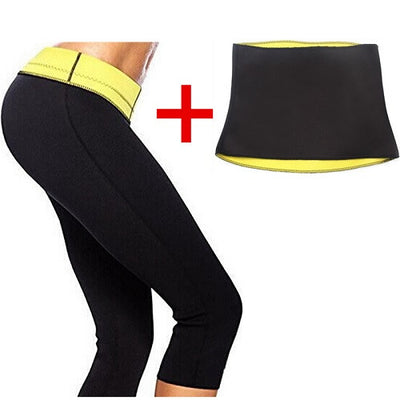 ( Pant + Belt ) Hot Shaper Body Shapers Control Short Slimming Panties Pants & Belts Super Stretch Neoprene Breeches For Women - upcube