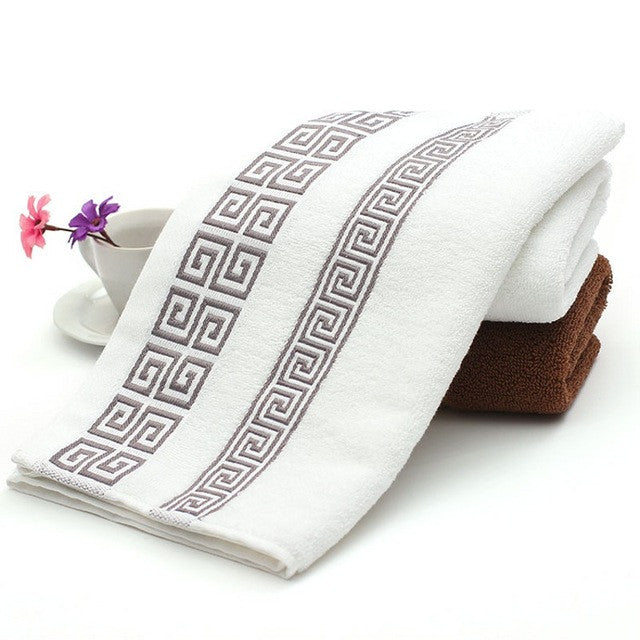 100% Cotton Embroidered Towel Bamboo Beach Bath Towels For Adults Luxury High Quality Soft Face Towels 33*74CM EN1425