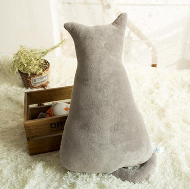 1pc 45cm Soft Fashion Back Shadow Cat Seat Sofa Pillow Cushion Cute Plush Animal Stuffed Cartoon Pillow Great Toys for Gift  dailytechstudios- upcube