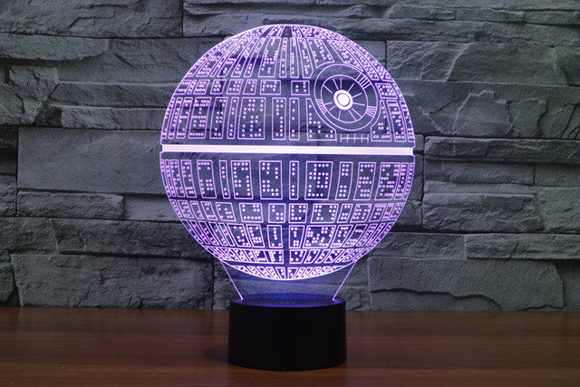1pcs/set 3D Novelty Light Star Wars Death Star 7 Colors Changing LED Lamp 2016 Luminaria 3D Lights Action Figure Kids Gift Toy  dailytechstudios- upcube