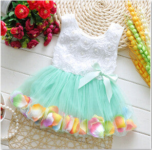 2017 Baby Girls Dress Big Bowknot Infant Party Dress For Toddler Girl First Brithday Baptism Clothes Double Formal Tutu Dresses  dailytechstudios- upcube