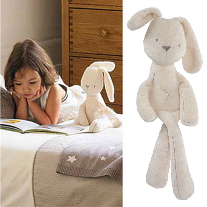 2017 cute rabbit baby soft plush toys for children bunny sleeping mate stuffed &plush animal baby toys for infants