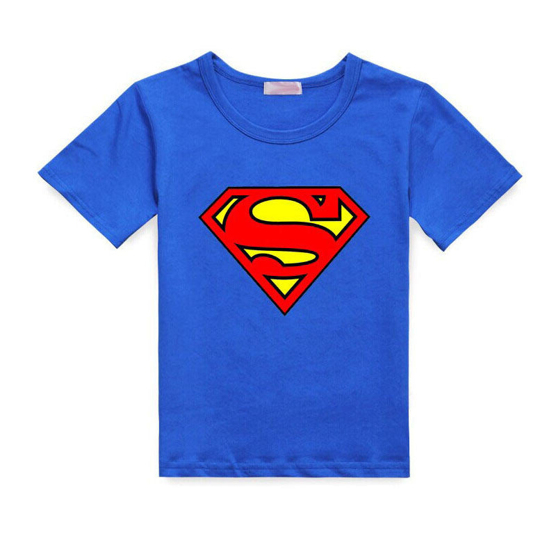 2017 Cartoon Printing Superman Short Sleeve T-Shirts Fashion Cotton Children Kids Baby Girls Boys T Shirts Tops Child Clothing  dailytechstudios- upcube