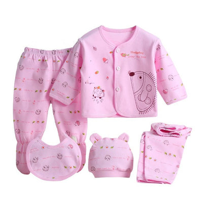 5pcs/set Newborn Baby 0-3M Clothing Set Brand Baby Boy Girl Clothes 100% Cotton Cartoon Underwear  dailytechstudios- upcube