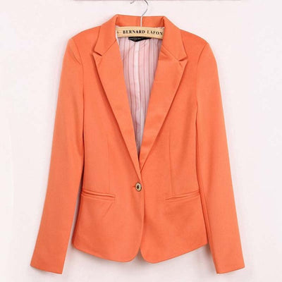 1PC 2016 Spring OL Suit Blazer Women Blaser Femenino Candy Color One Button Women Blazers Coat Casual Fashion BB0051