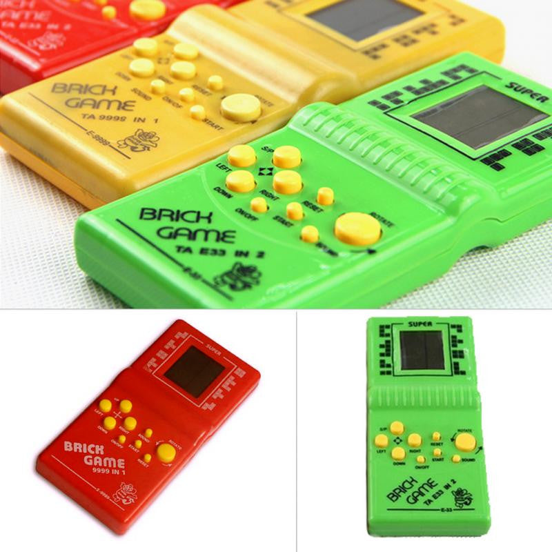 Kids Game Machine with Game Music Playback Tetris Brick Game Handheld Game Machine without Battery
