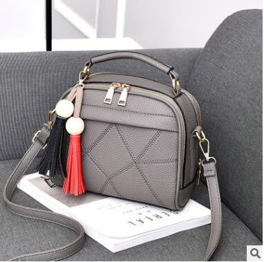 2017 New Women Small Leather Shoulder bags Girls Crossbody Messenger bag Ladies Handbag and Purse Femme Sac A Epaule bolso Black
