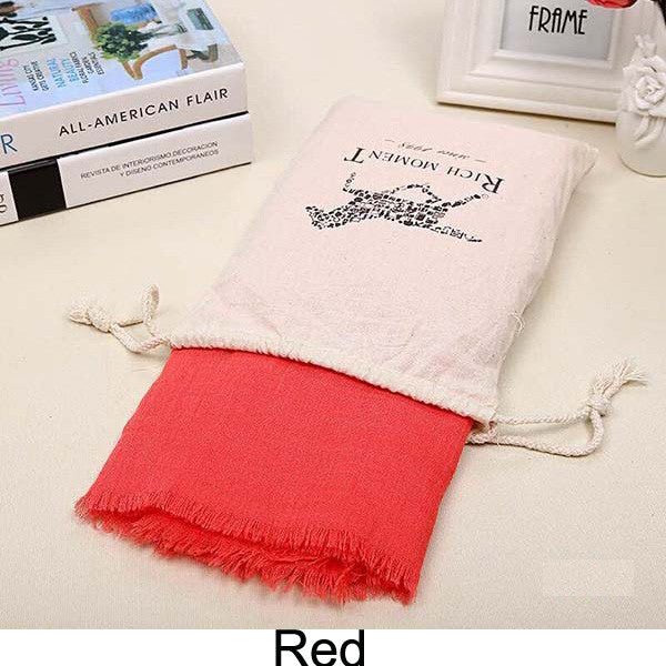 155*185cm 2015 Brand Fashion Horse Soft Cotton&Linen Blend Solid Winter Scarf Women Warm Tassel Shawls and Scarves Scarfs 19543