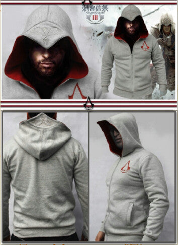 2016 Spring New Fashion Autumn Winter Assassins Creed Hoodie Sweatshirt Chadal Hombre Cosplay Costumes Cool Zipper Hoodies Men  dailytechstudios- upcube
