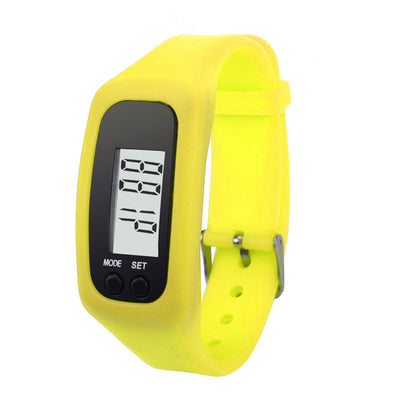 2016 New Listing electronic Outdoor sport utility Digital LCD Pedometer Run Step Walking Distance Calorie Counter Watch Bracelet