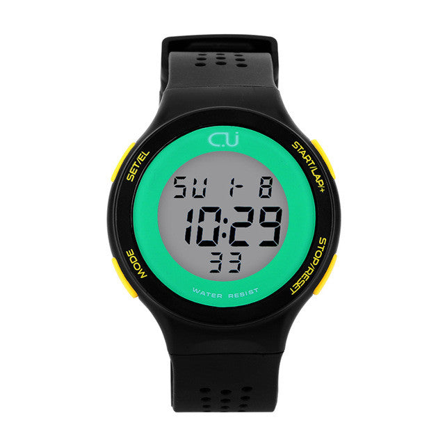 2016 New CU Brand Sports Watch Fashion Alarm Waterproof Military Digital Watches For Man and Woman Casual Wristwatches