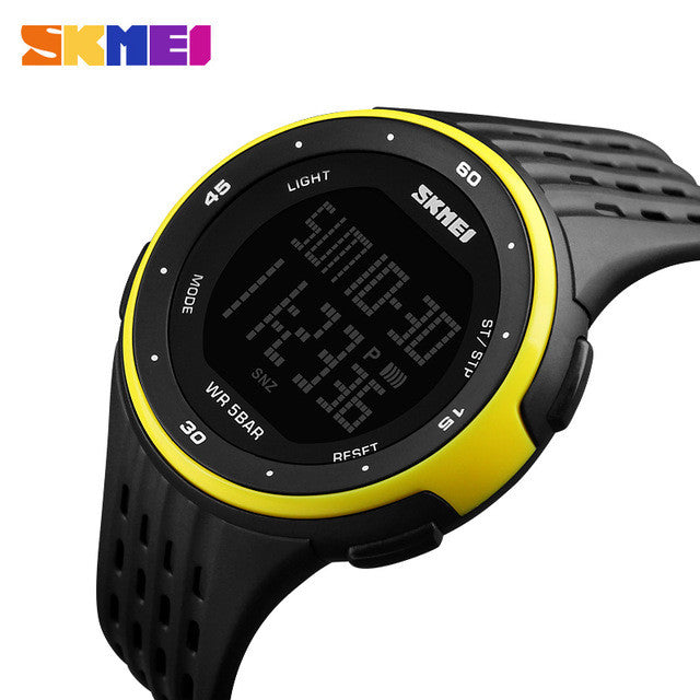 SKMEI Luxury Brand LED Digital Watch 50m Waterproof Military Sport Watches For Men Women Multifunctional Casual Wristwatches