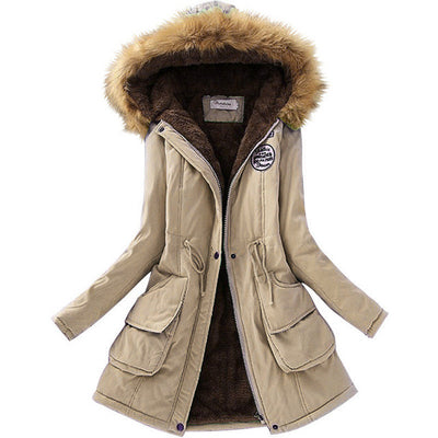 Autumn Warm Winter Jacket Women Fashion Women's Fur Collar Coats Jackets for Lady Long Slim Down Parka Hoodies Plus Size Parkas  dailytechstudios- upcube