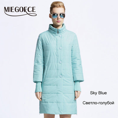 MIEGOFCE 2017 New Spring Parka Jacket Women Winter Coat Womens Medium-Long Cotton Padded  Warm Jacket Coat High Quality Hot Sale