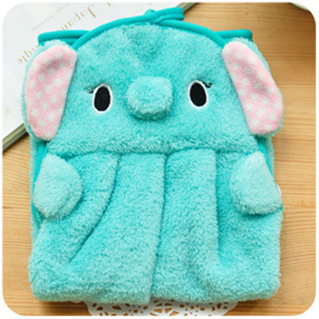 Cute Children Nursery Hand Towel Cartoon Animal Kitchen Bath Hanging Wipe Towel