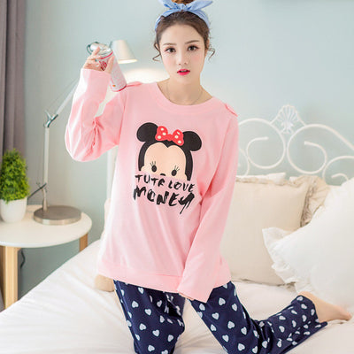 Free Shipping Women Pyjamas Cotton Clothing Long Tops Set Female Pyjamas Sets Night Suit Sleepwear Women Home Clothes Ladies Set