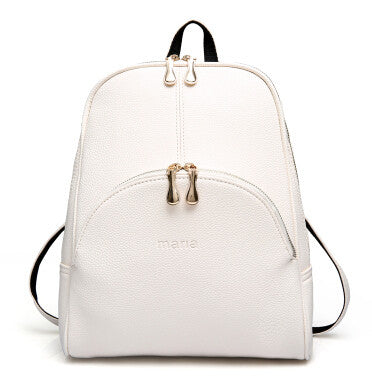 2016 Fashion Backpacks Women PU Leather School Bag Girls Female Candy Colors Travel Shoulder Bags Waterproof Back Bags Mochila  dailytechstudios- upcube