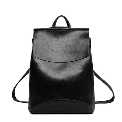 2017 Winter Design PU Women Leather Backpack College Student High School Bags for Ladies Girl Teenager Back pack For Laptop book  dailytechstudios- upcube