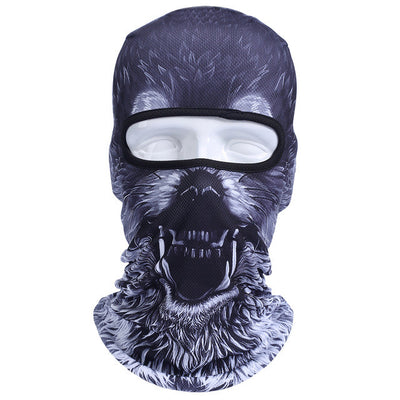New 3D Animal Cat Dog Outdoor Bicycle Cycling Motorcycle Ski Hats Balaclava Windproof Snowboard Party Halloween Full Face Mask