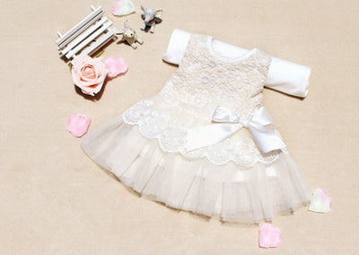 Baby Girls Sleeveless Lace Crochet Princess Dress Kids With Bow Belt Party Dresses  dailytechstudios- upcube