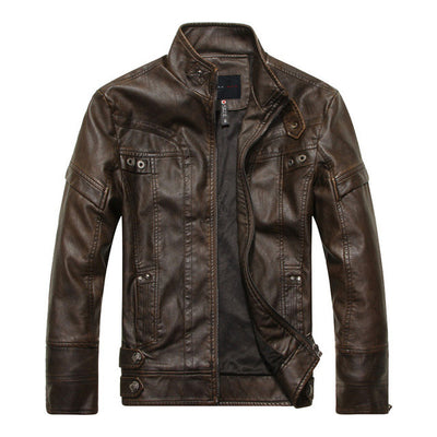 Kenntrice Autumn Winter Brand Leather Jackets Men Jaqueta Couro Masculino Bomber Leather Jacket Sheepskin Coat Motorcycle Jacket