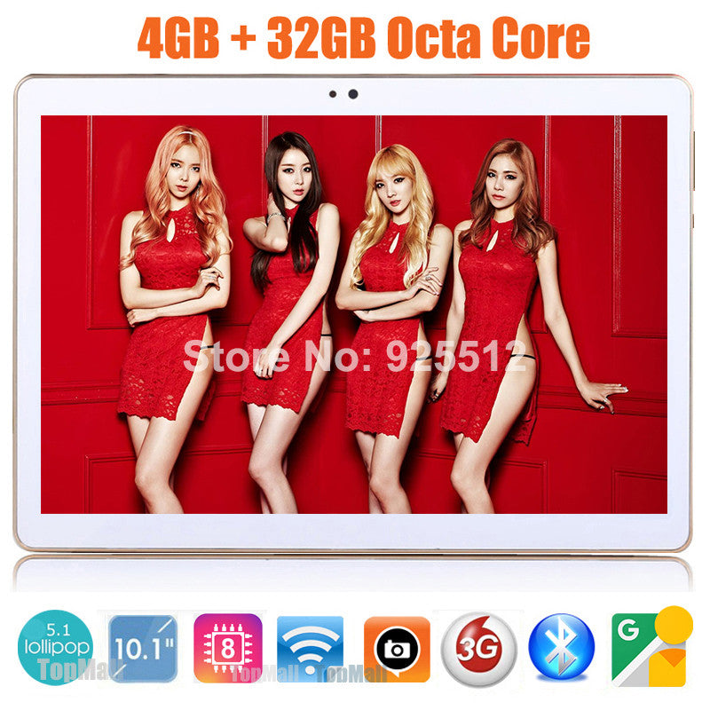 10 inch MT8752 Octa Core 3G Phone tablet pc 1280*800 5.0MP 4GB RAM 32GB ROM Android 5.1 Bluetooth GPS IPS tablet 10 10.1 Gifts