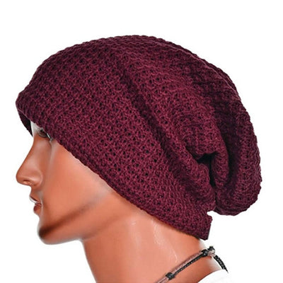 Hot Selling Chic Men Women Warm Winter Knit Ski Beanies Skull Bandana Slouchy Oversized Cap Sport Hat Unisex Bonnet