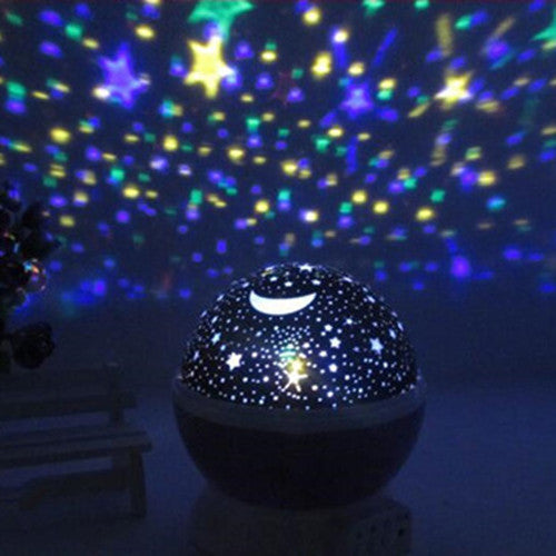 2017 Romantic Rotating Spin Night Light Projector Children Kids Baby Sleep Lighting Sky Star Master USB Lamp Led Projection  dailytechstudios- upcube