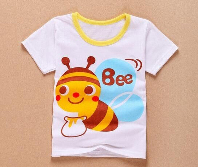 1Pc retail! kids T-shirt baby girls boysT-shirt  Kids Cotton children  clothing  baby clothes top for2-5Y b1TST0013  dailytechstudios- upcube