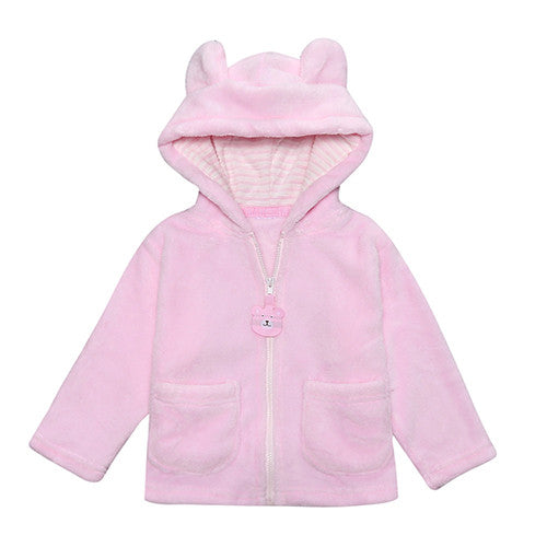 2016 Winter Baby Boy & Girls Coats jackets and coats children clothing coral fleece Animal Bear style children coat SY101