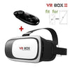 HOT Google cardboard VR BOX II 2.0 Version VR Virtual Reality 3D Glasses For 3.5 - 6.0 inch Smartphone+Bluetooth Controller 1.0