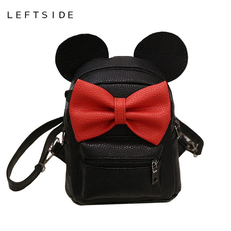 e9753d0c4e LEFTSIDE 2017 Summer new female bag quality pu leather women bag Cute  Animal backpacks ears sweet