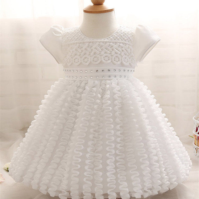 Flower Lace Girl Dress 2017 Summer Kids Girls Clothes For First Birthday Party Gown Dresses Newborn Baby Children Costume Dress