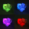 1 Pcs 7 Color Changing Elephant LED Night Light Lamp with Battery Party Decor - upcube