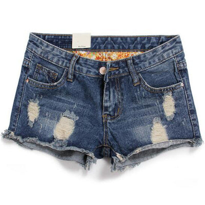 2016 New Plus Size Hollow Out Women Print Jeans Shorts Summer Style Hole Design Denim Shorts for Women Jeans Shorts 26 - 34  dailytechstudios- upcube