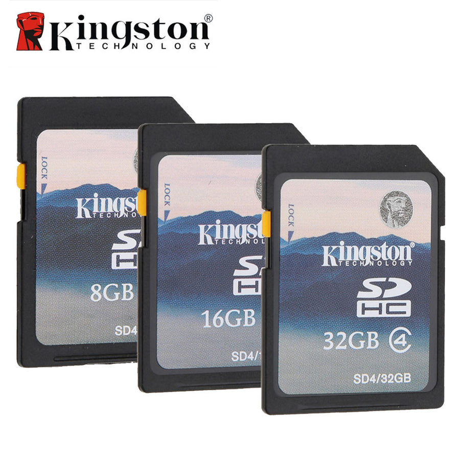 100% Original Kingston SD Card 32GB 16GB 8GB Flash Memory Card HC SDHC Digital Camera SD Memory Card for Camera Camcorder  dailytechstudios- upcube