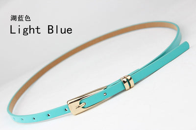 2017 Fashion Belts For Women Dresses Girl Candy Color PU Leather Thin Skinny Cummerbund Waist Belt Waistband  dailytechstudios- upcube