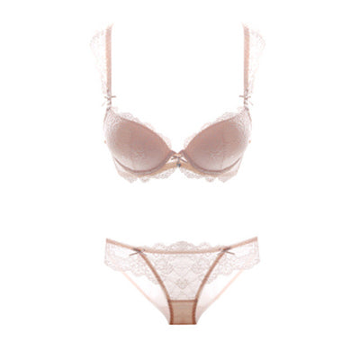 Europe and sexy lace bra set ladies underwear thick deep V gather bra sets