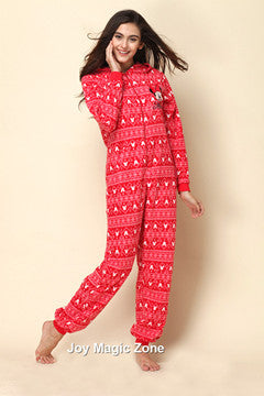yomrzl New Arrival Nordic style women's warm winter one-piece sleepwear pajama costume XS L XL L156