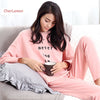 New 2016 Cotton Women Pajamas Sets Autumn Long-sleeved Pijama Sleepwear Casual 2 Pieces Homewear Letters Sleepsuit For Female
