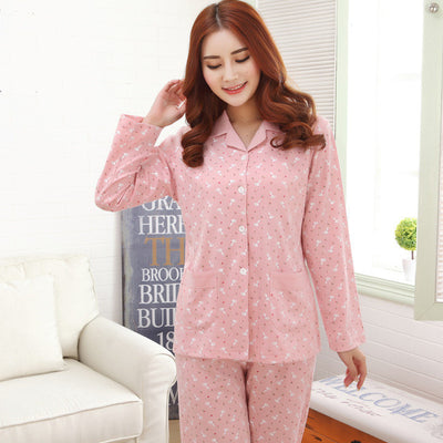 Pajama Sets For Women Long sleeve printing Cotton Pajamas pullover Plus size 4XL