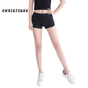 12 Colors S-XL Women's Shorts Summer Cotton Elastic Mid Waist Three Stripes Slim Workout Sportswear Shorts Women