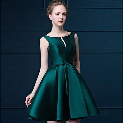 2016 New Design A-line Short  Cocktail Dresses V-opening lace-up Formal Evening Party Gown veatidos de festa  dailytechstudios- upcube