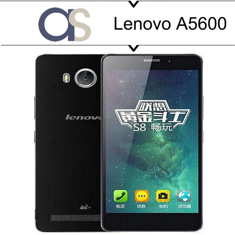 100% Original Lenovo A5600 LTE 4G Mobile Phone Android 5.1 MTK 6735P 1.0GHz Quad Core 1G RAM 8G ROM 5.5inch 720P 8.0MP camera - upcube