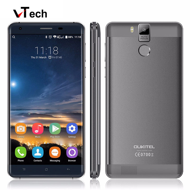 "2016 Newest Original Oukitel K6000 Pro 4G LTE Mobile Phone Octa Core 5.5"" 1920x1080 3GB RAM 32GB ROM 13.0MP Fingerprint 6000mAh"